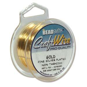 gold round 22ga craft wire